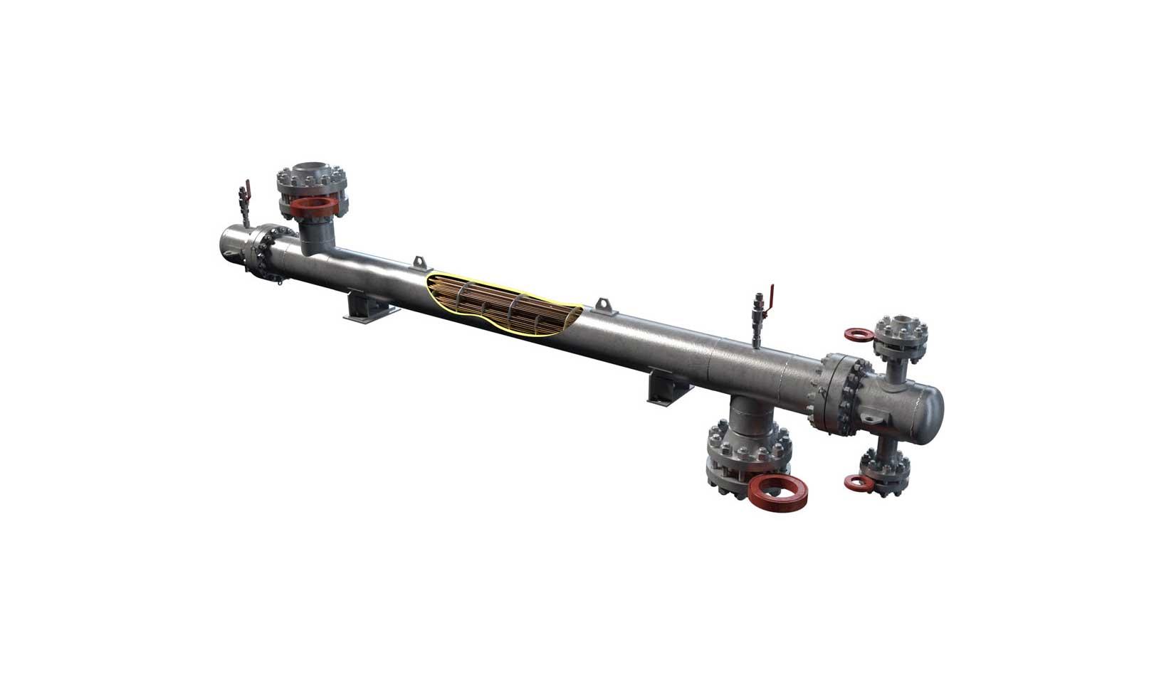 Подогреватель газа горизонтальный (ПГ)