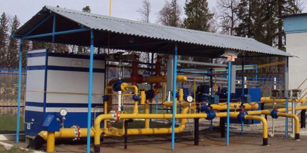 Блок (узел) переключения и одоризации газа